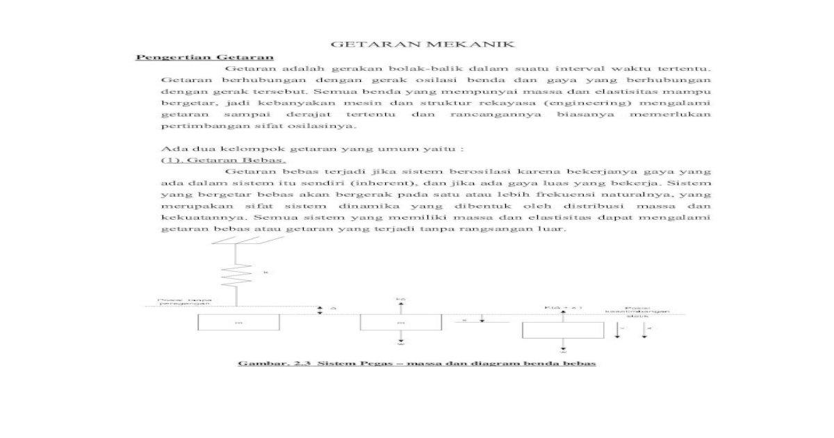 Getaran Mekanik Pdf Document
