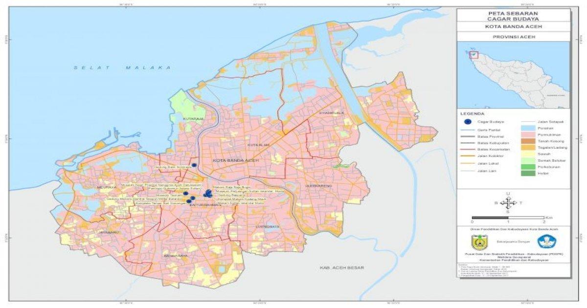 Kota Banda Aceh Sdm Data Aceh Besar Provinsi Aceh Kota Banda Aceh Peta Sebaran Cagar Budaya Kota Pdf Document