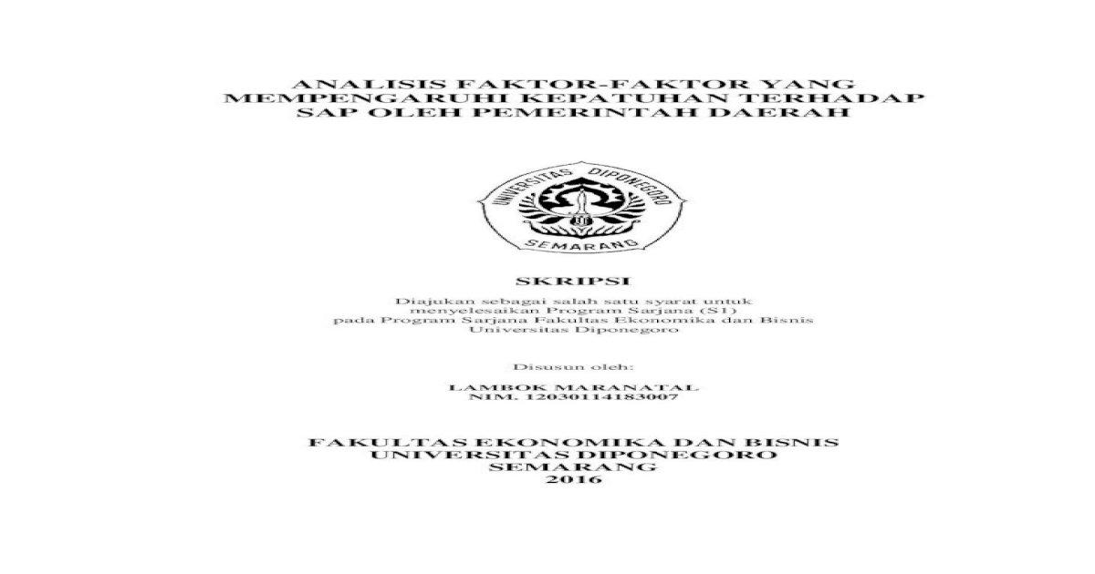Analisis Faktor Faktor Yang Mempengaruhi Pernyataan Orisinalitas Skripsi Yang Bertanda Tangan Di Pdf Document